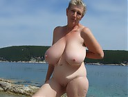 (7 pictures) Nudist granny with killer tits