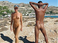 (5 pictures) Beach girls and men, they a fully nude