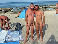 Tanned naked dudes on the nudist beaches