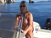 (1 movies) Boat trip completly nude